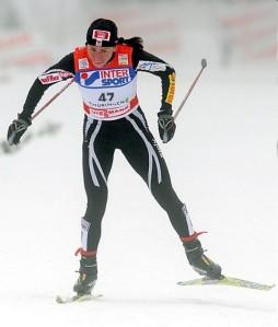 Justyna Kowalczyk. Su fortaleza física destaca de entre el resto de esquiadoras