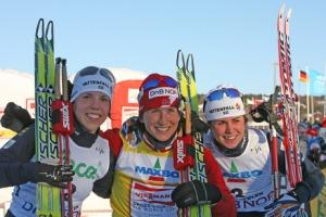 Primer podium de la temporada. Foto: ski-nordique.net