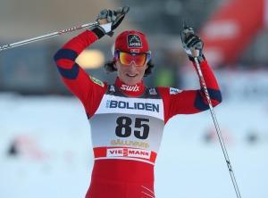 Bjoergen en meta. Foto: Ski-Nordique.net