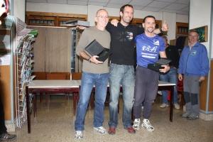 Podium de los veteranos, que han plantado cara a los jóvenes en la Liga. Foto: Esquiblog.com