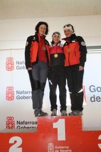 Podium del Campeonato navarro femenino.