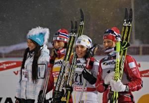 Bjoergen, Kalla y Skofterud dominadoras del inicio de temporada. Foto: Ski-Nordique.net