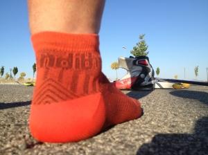 Probando la absorción de los calcetines Pandith en plena ola de calor